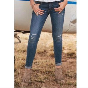 Driftwood High Rise Distressed Jackie Jeans